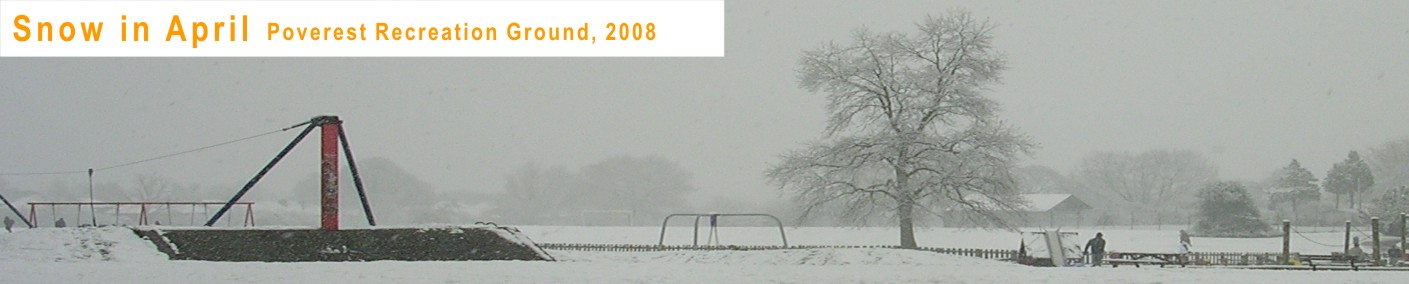 Snow in April, Orpington, 2008